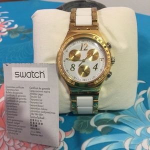 Swatch Ceramic Dreamwhite YCG407G Watch